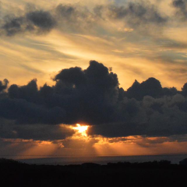 """Devon Sunset 5"" stock image"