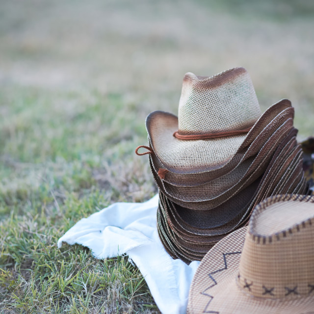 """Cowboy Hats for Sale"" stock image"