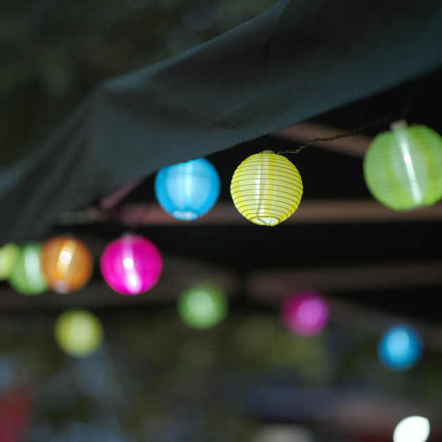 """Small Paper Lanterns"" stock image"