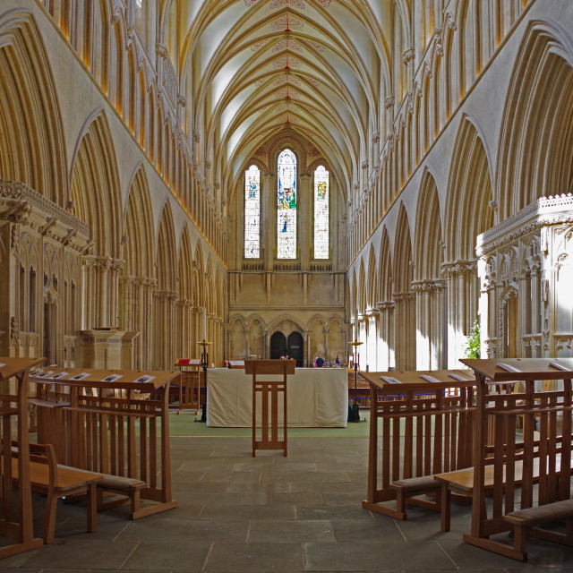 """The Nave, Wells"" stock image"