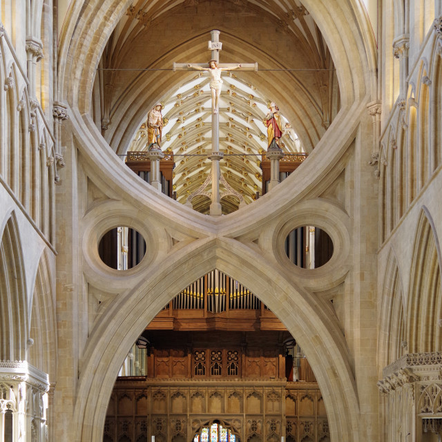 """The Scissor Arch, Wells"" stock image"
