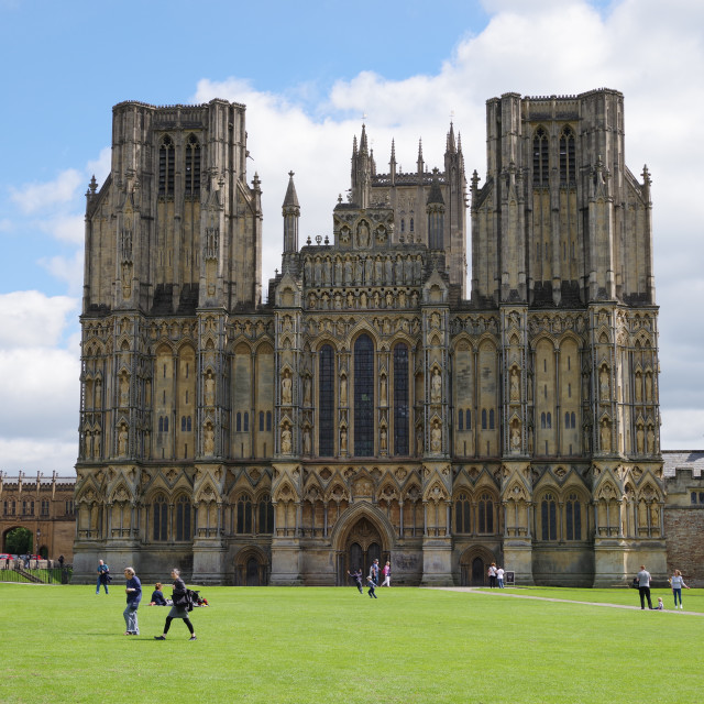 """Wells Cathedral"" stock image"
