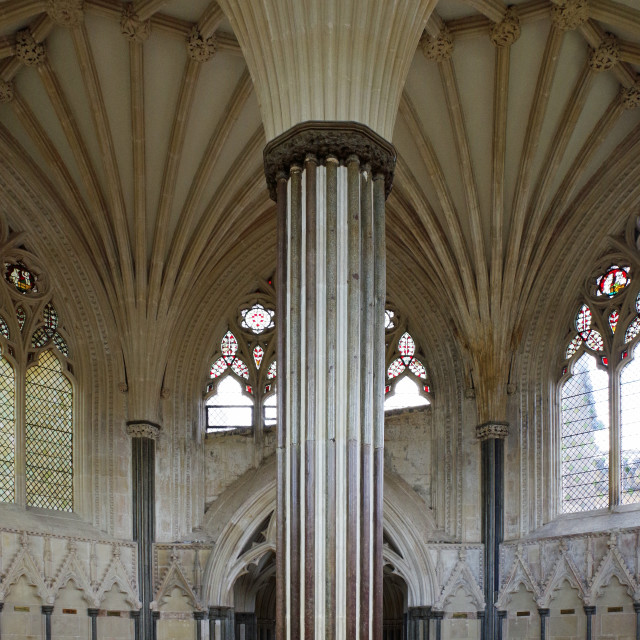 """The Chapter House, Wells"" stock image"