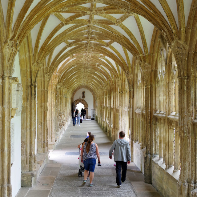"""The Cloister, Wells"" stock image"