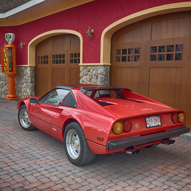 """Ferrari 308 QV rear view"" stock image"
