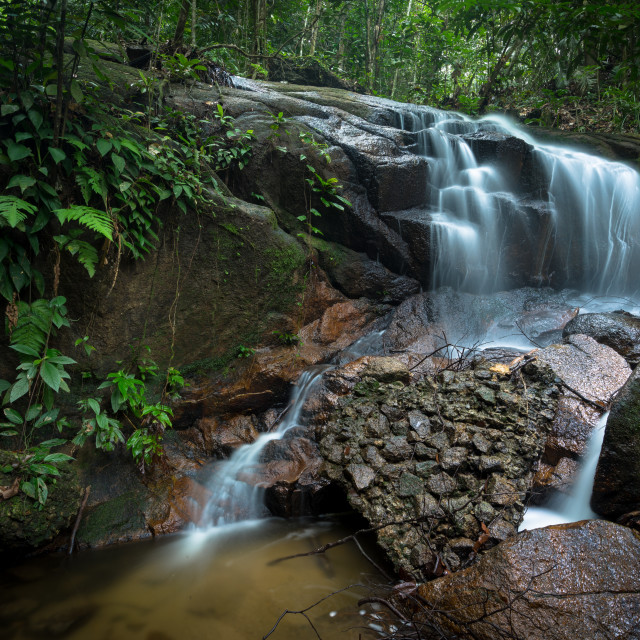 """Small waterfall"" stock image"