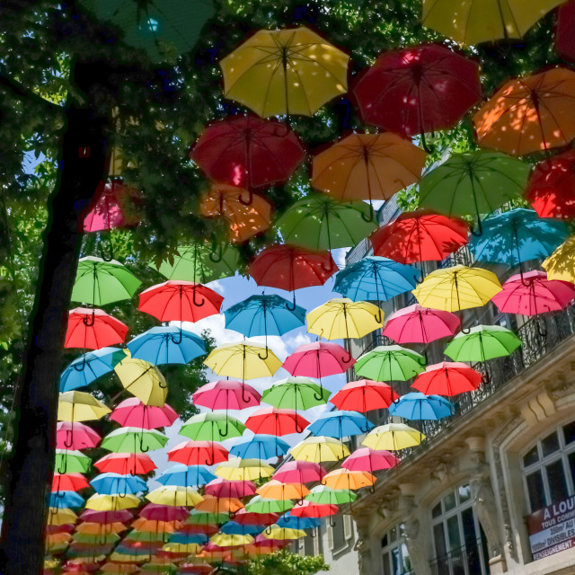 """Colourful Umbrellas"" stock image"