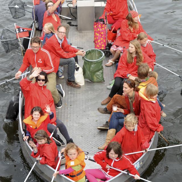 """Oud-Amsterdamsch Plastic Visschen. Plastic Fishing. Amsterdam NL"" stock image"