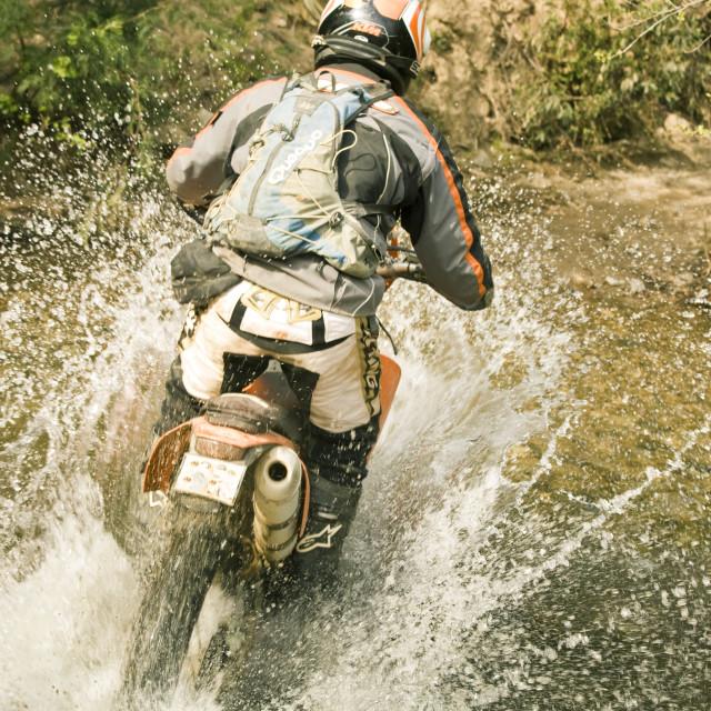 """Enduro motorcycling"" stock image"