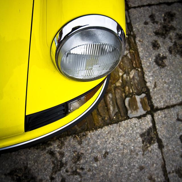 """Yellow Porsche 911"" stock image"