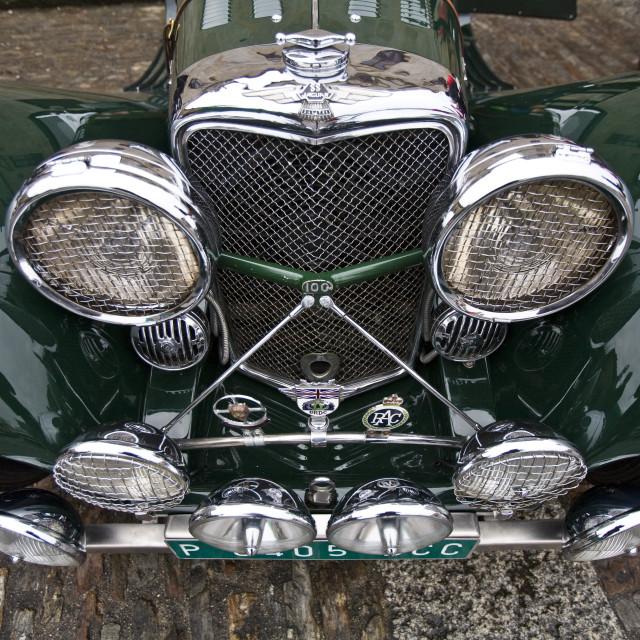 """Front of a Jaguar 100"" stock image"