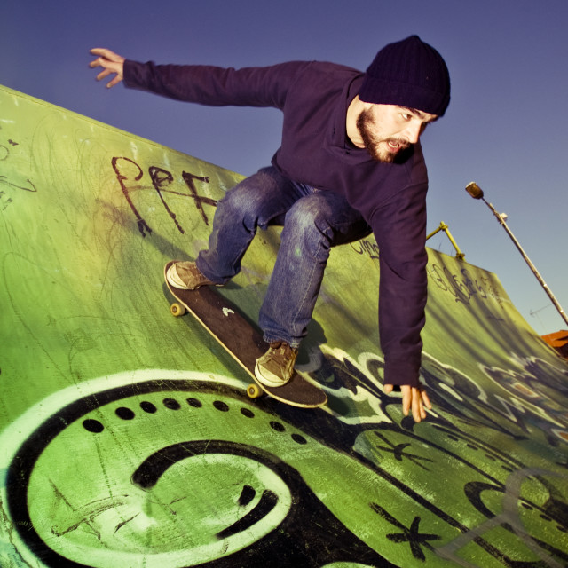 """In the skate park"" stock image"