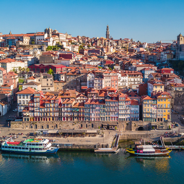 """Ribeira district in Porto, Portugal 