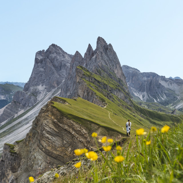 """Mount Seceda in the Dolomites, Italy"" stock image"