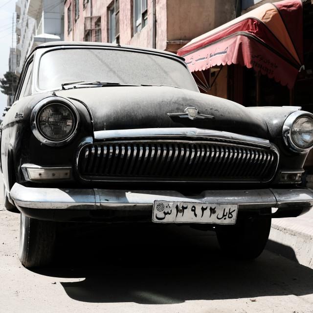 """""""Volga Gaz - Classic Cars of Kabul"""" stock image"""