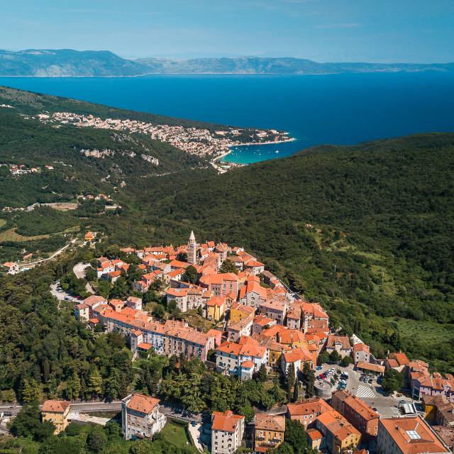 """Labin in Istria, Croatia | Aerial"" stock image"