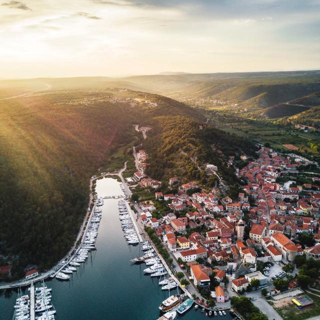 """Skradin, Croatia | Aerial"" stock image"
