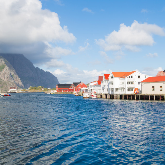 """""""Norway, island of Nusfjord"""" stock image"""