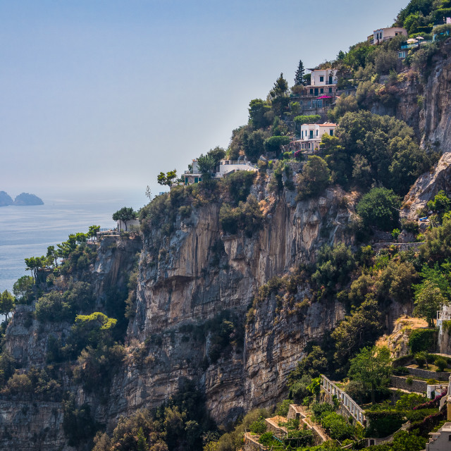 """Amalfi Coast Cliff, Italy"" stock image"