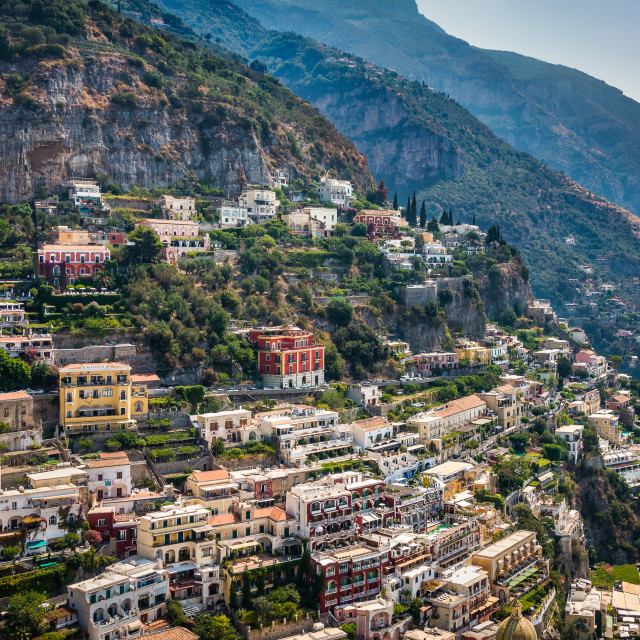 """Positano Cityscape, Amalfi Coast, Italy"" stock image"