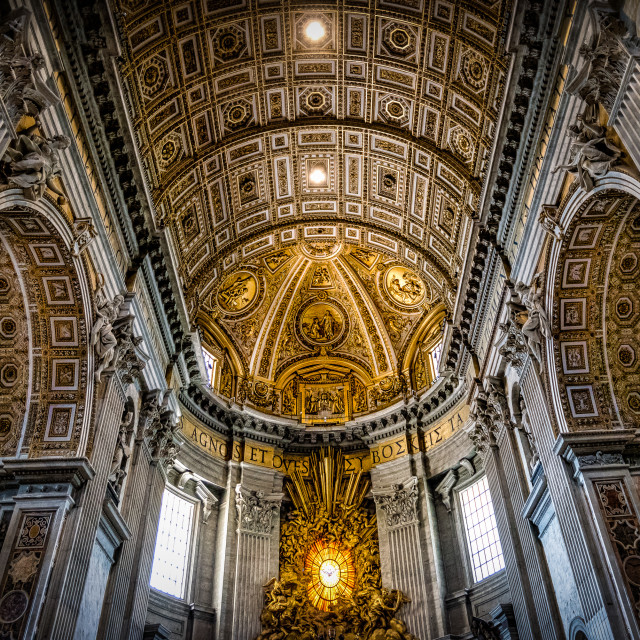 """Saint-Peter's Basilica Light, Vatican City, Italy"" stock image"