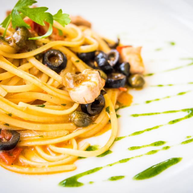 """Italian Linguine Pasta, Italy"" stock image"
