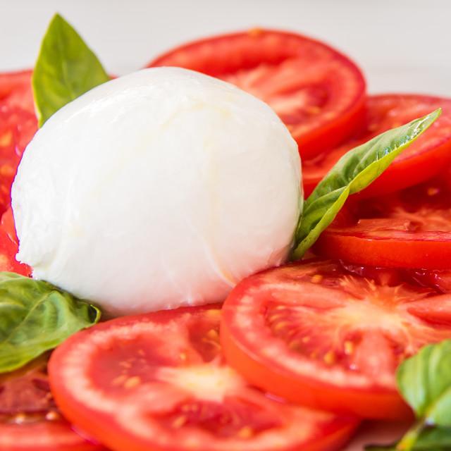 """""""Italian Mozzarella Salad, Italy"""" stock image"""