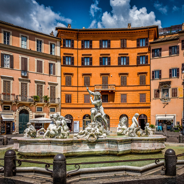"""Navone Square Fountain, Rome, Italy"" stock image"