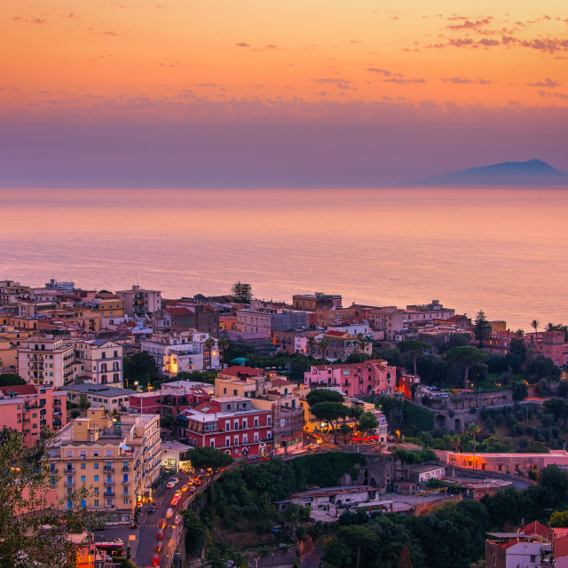 """Amalfi Coast Sunset, Italy"" stock image"