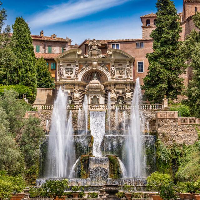 """""""Villa Of Este, Rome, Italy"""" stock image"""