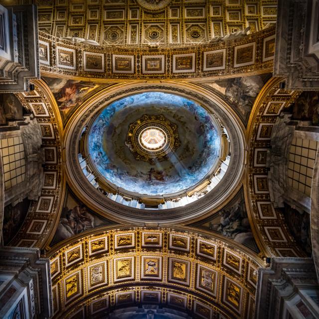 """Saint-Peter's Basilica Ceiling, Vatican City, Italy"" stock image"