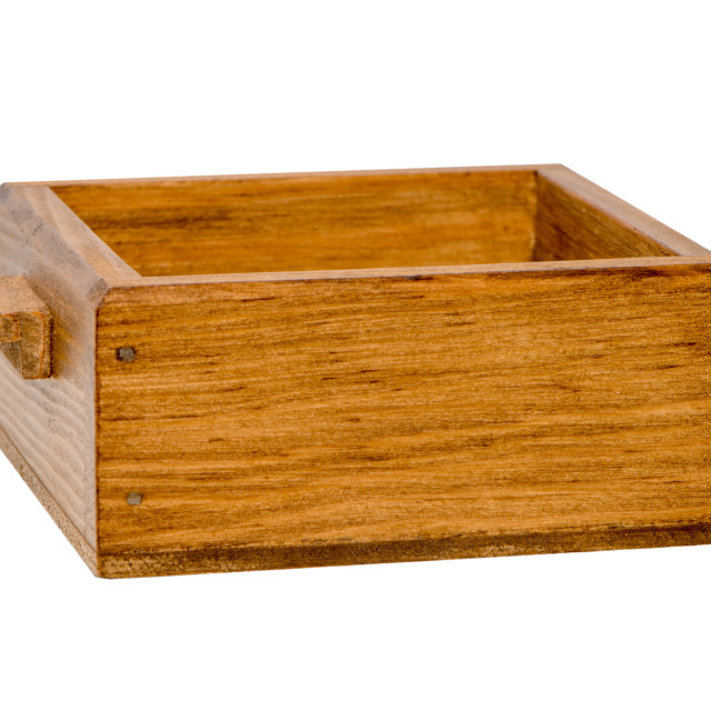 """Small wooden boxe"" stock image"