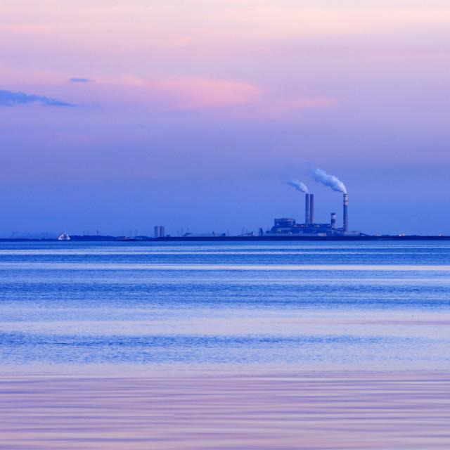 """National Gypsum wallboard manufacturing plant, Apollo Beach, Florida, USA."" stock image"