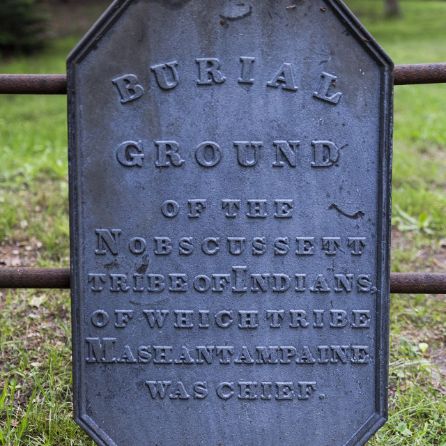 """Nobcusssett tribe burial grounds, Brewster, Cape Cod, Massachusetts, USA."" stock image"