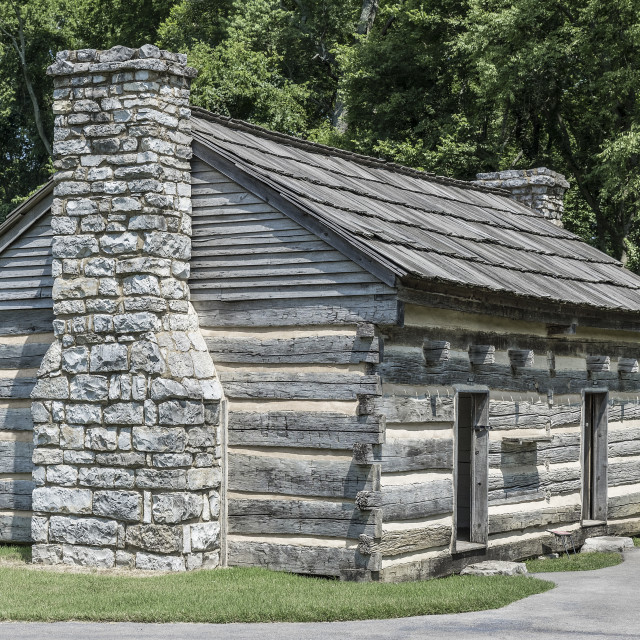 """The Hermitage plantation,slave quarters cabin, Tennessee, USA."" stock image"