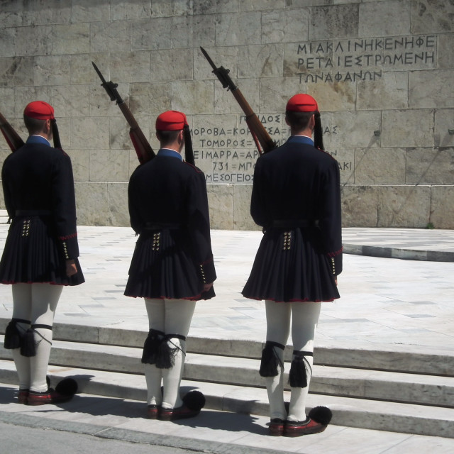 """Tomb of the unknown soldier, Athens"" stock image"