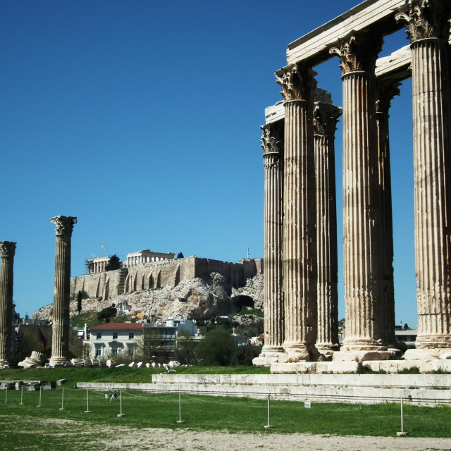 """Temple of Olympian Zeus"" stock image"