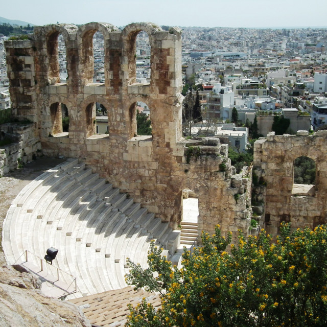 """Odeon of Herodes Atticus"" stock image"