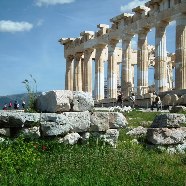 """""""Propylaea, Athens"""" stock image"""