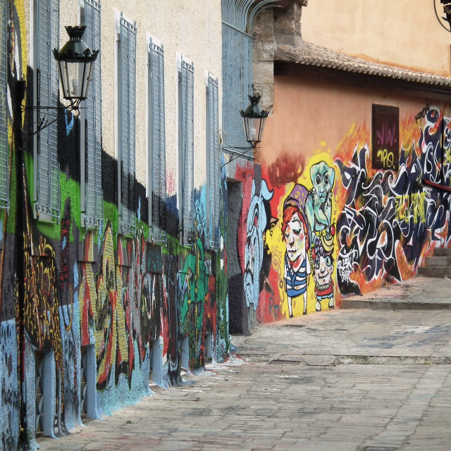 """Grafitti in Athens"" stock image"