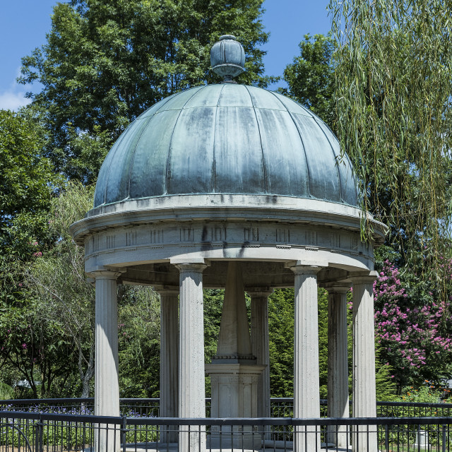 """The tomb of Andrew and Rachel Jackson is located in the Hermitage garden, Tennessee, USA."" stock image"