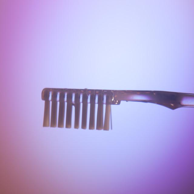 """Dental toothbrush closeup"" stock image"