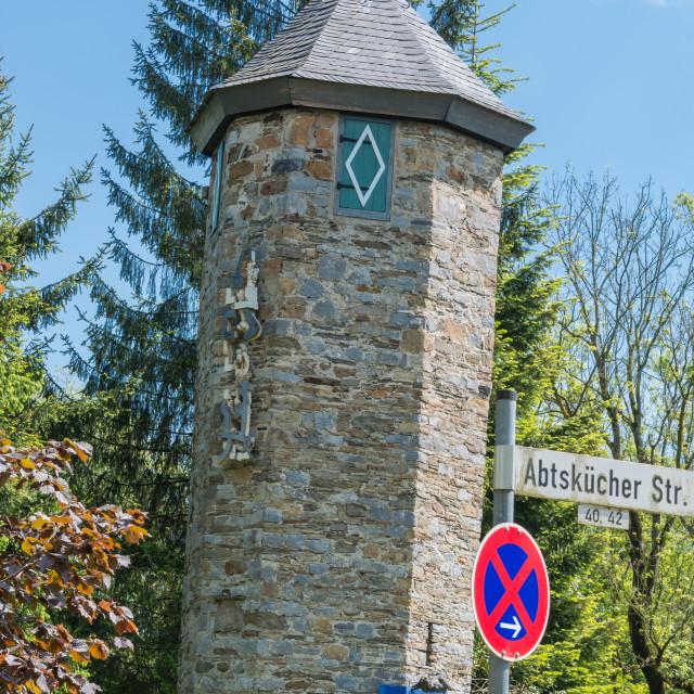 """""""Tower of Castle Hetterscheidt in Heiligenhaus"""" stock image"""