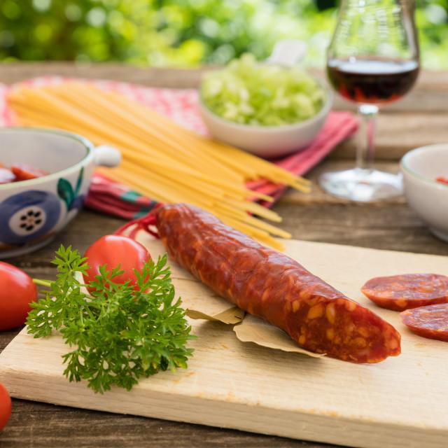 """Chorizo"" stock image"