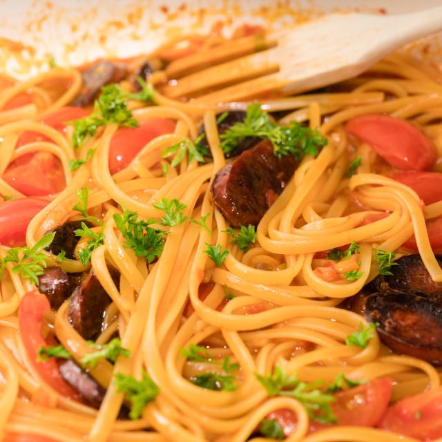 """Chorizo dish"" stock image"