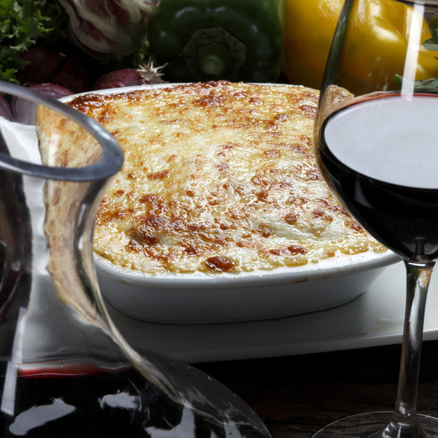 """Roasted lasagna"" stock image"