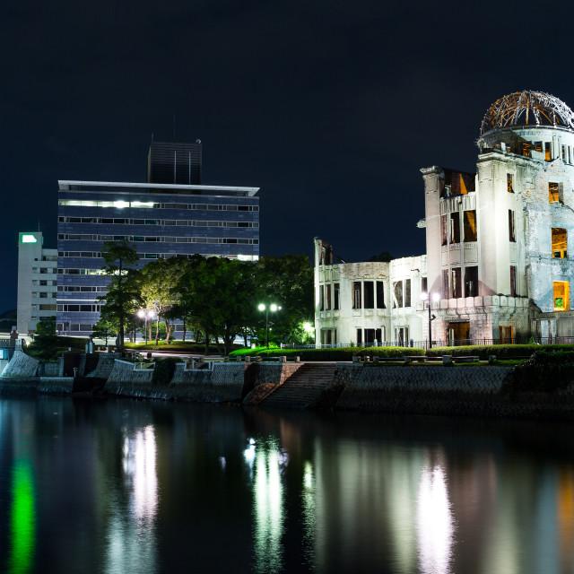 """A-bomb Dome, Hiroshima city"" stock image"