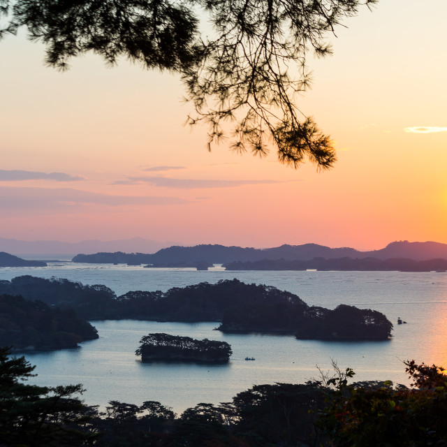 """Matsushima during sunrise"" stock image"