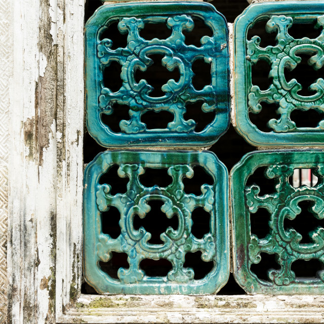 """Traditional Chinese window pattern"" stock image"