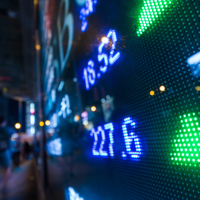 """Stock market display board"" stock image"